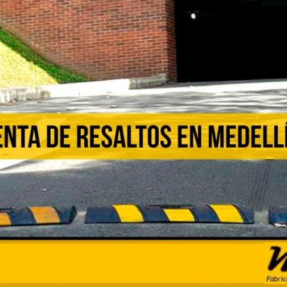 La venta de resaltos en Medellín permite reducir la velocidad
