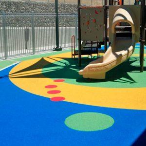 Piso de caucho para parque infantil