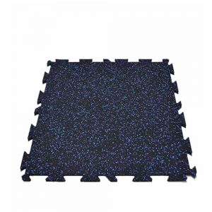 Piso de caucho EPDM modular azul